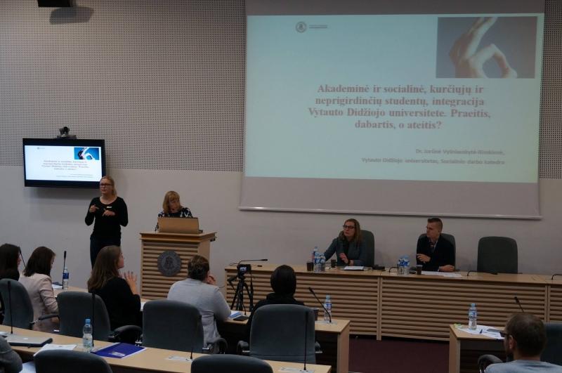 """Kurčiųjų akademikų konferencija """"Kurtumas – ne kliūtis studijuoti"""""""