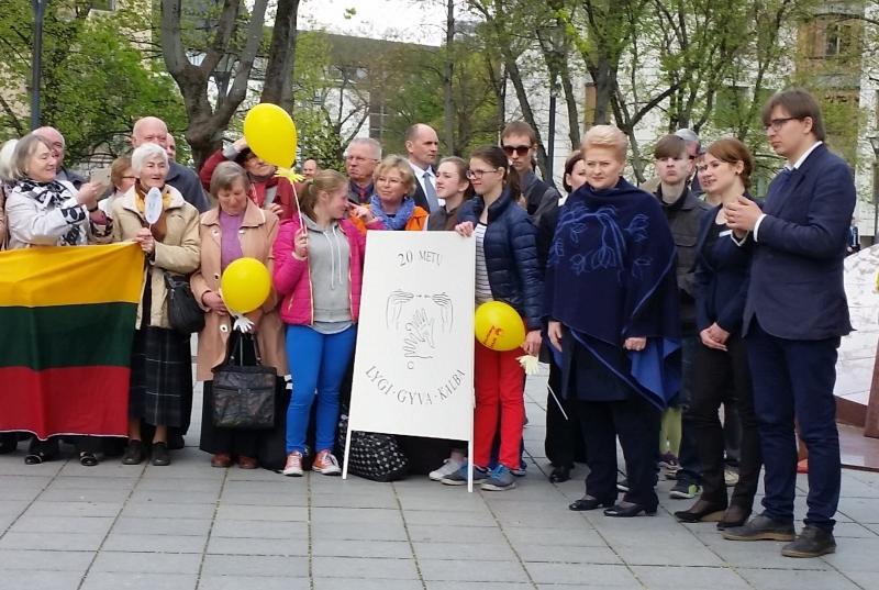 Akcija, skirta lietuvių gestų kalbos pripažinimo kurčiųjų gimtąja kalba 20-ies metų jubiliejui