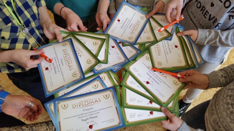 """Edukacinio konkurso """"Olympis 2016""""  apdovanojimai"""