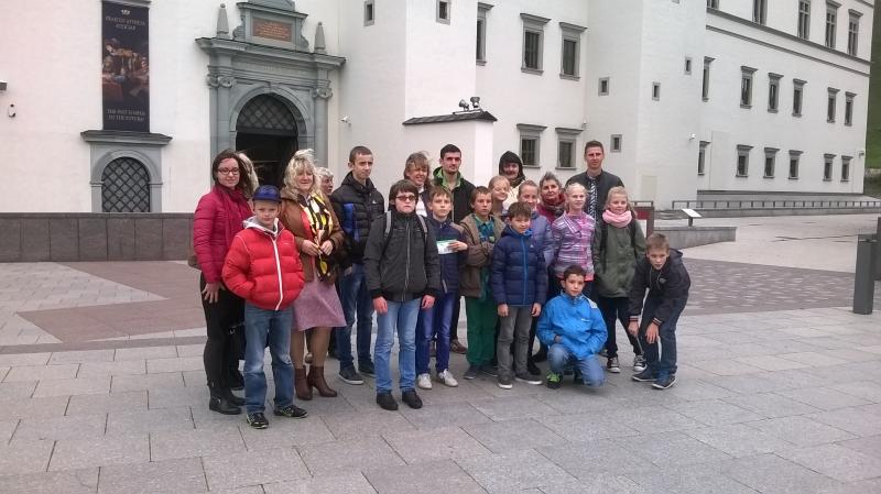 Mokinių išvyka į parodą ir Valdovų rūmus